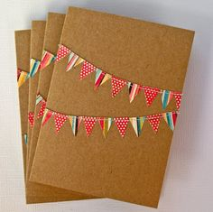 bunting stationary ~ too cute!
