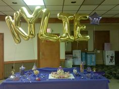 Gold and Purple baby shower