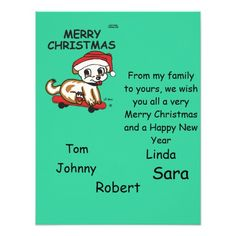 Lil Max Merry Christmas Card Invitations