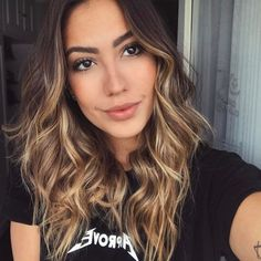 Wigs For White Women Aliexpress 360 Frontal Wigs – wigslong Os cabelos net luzes Cabelo Ombre Hair, Balayage Hair, Ombre Hair Brunette, Hombre Hair, Cabello Hair, Slick Hairstyles, Honey Hair, Wedding Hairstyles For Long Hair, Hair Highlights