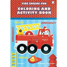 Fire Engine Coloring Book