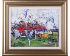 Început de primăvară - pictură în ulei pe carton, artist Iurie Cojocaru Painting, Painting Art, Paintings, Painted Canvas, Drawings