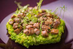 Liver, greenpeas risotto