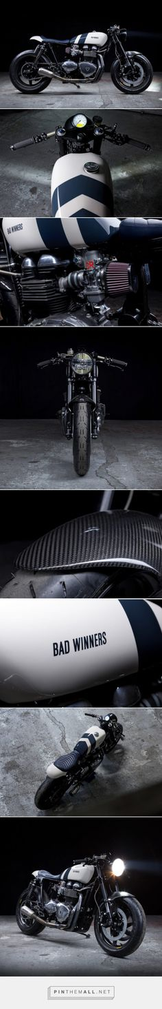 Zero Gravity: Bad Winners' lightweight Thruxton cafe | Bike EXIF - created via https://pinthemall.net