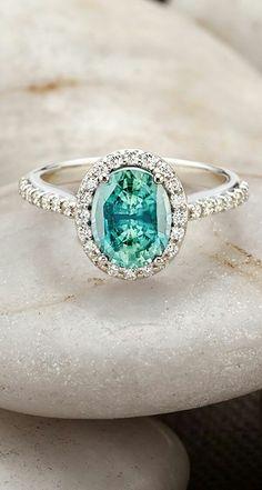 Teal diamond ring ✿