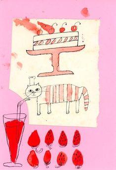 Japanese Illustration, Children's Book Illustration, Doodle Drawings, Cute Drawings, Sketchbook Inspiration, Kawaii Art, Art Club, Watercolor And Ink, Book Design