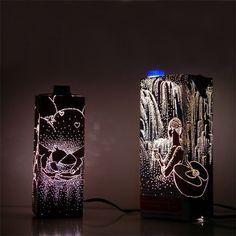 독일 디자인위크에 출품된 디자이너Anke Weiss의 음료팩과 음식포장을 이용한 조명작품 http://www.every...