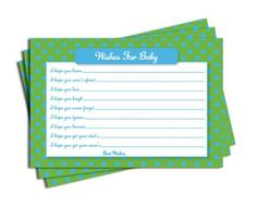 Boy Baby Shower Green Blue Dot Wishes for Baby Cards (50-cards) All-Ewired-Up http://www.amazon.com/dp/B00IJK908G/ref=cm_sw_r_pi_dp_tZ7Jtb0QTK2N3RKE
