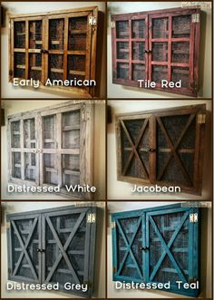 Rustic Wire Shelf Cabinet-S-Bathroom Kitchen by OutOfTheWoodWork14
