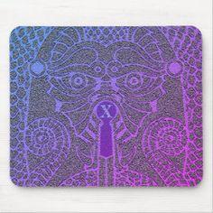 Customizable Abstract Dragon Mousepad purple/black Dragon Face, Dragon Head, Blue Dragon, Good Luck Chinese, Dragon's Teeth, Chinese Symbols, Custom Mouse Pads, Corner Designs, Marketing Materials
