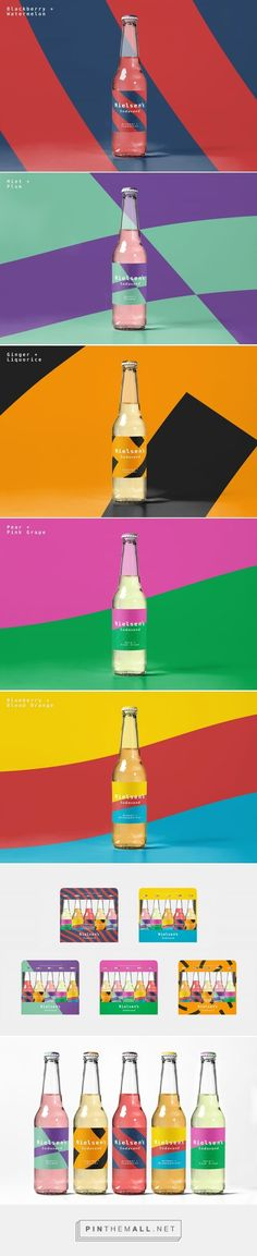 Nielsen's Craft Soda Packaging by Sidse Melvang | Fivestar Branding Agency – Design and Branding Agency & Curated Inspiration Gallery