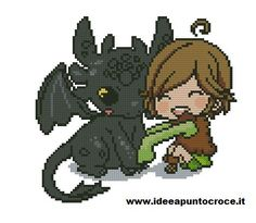 how to train your dragon cross stitch