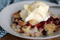 This Cherry Dump Cake recipe only has 4 ingredients and is a definite crowd pleaser!