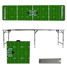 Marshall Thundering Herd 8 Foot Portable Tailgate and Pong Table