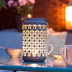 Venice Patterned Lantern Large  Its beautifully intricate lace patterned detailing casting interesting shadows and shapes as the candlelight flickers the Lantern is a wonderful gift for any home. Find it at Oxford Barbecues.  #latern #outdoorlaterns #homedecor #decorinspo #home #garden #gardendecor #homesweethome #handmadeisbetter #handmadegifts #madewithlove #instahome #homeaccessories #gifts #personalisedgifts #stylematters #amatterofstyle