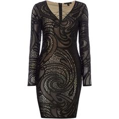 Lipsy Michelle Keegan Long Sleeved Lace Dress ($99) ❤ liked on Polyvore…