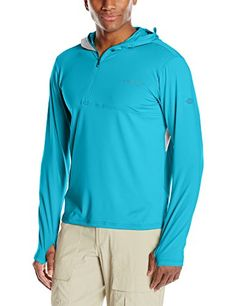 ExOfficio Mens Sol Cool Ultimate Hoodie Deep Sea XXLarge * Want to know more, click on the image.