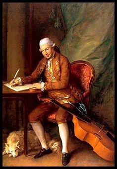 portrait of Carl Friedrich Abel with his viol, by Thomas Gainsborough, 1777.