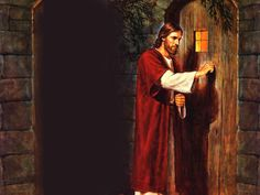 """This is one of my favorite verses. I always imagined Jesus as knocking on the door, but the door was my heart. ♥ """"Behold, I stand at the door, and knock: if any man hear my voice, and open the door, I will come in to him, and will sup with him, and he with me."""" Revelation 3:20"""