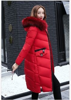 Women Coat Jacket Length Woman Parka With Detachable Fur Cap Winter Thick Coat Women Outwear Winter Collection Hot Feamale * AliExpress Affiliate's buyable pin. Find similar products by clicking the image Coats For Women, Jackets For Women, Womens Parka, Winter Collection, Women's Jackets, Cap, Woman, Shopping, Image