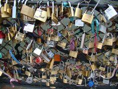 Bridge with locked love  Paris - 2011