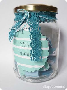 Date Jar - Ein Marmeladenglas mit 50 Date-Ideen zur Hochzeit.