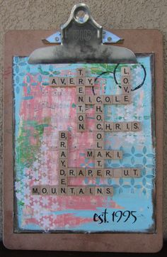 Scrabble tile wall art