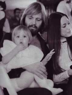 Baby Angie with her parents ~ 1977