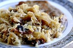 Sauerkraut with Bacon and Apples ~ Sweet, savory, and smokey sauerkraut, with onions, apples, and bacon. ~ SimplyRecipes.com