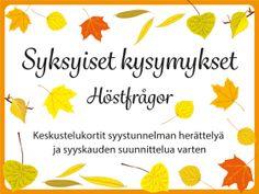 kysymyssarja Archives - RyhmäRenki Special Education, Diy For Kids, Kids Learning, Diy And Crafts, Baby Kids, Kindergarten, Teaching, Google, Kindergartens