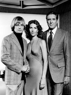 David McCallum, Melinda Fee and Craig Stevens from the television program The Invisible Ma