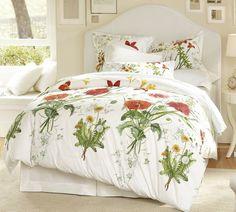 Bloomfield Floral Organic Duvet Cover & Sham | Pottery Barn