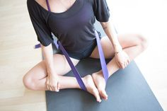 Ways to use a yoga strap