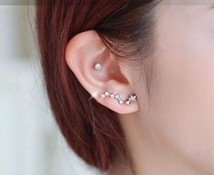 Material: alloy, rhinestone, 925 silver pin;  Price for one pair