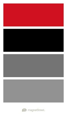 Classic Red, Black, Charcoal, and Classic Gray Wedding Color Palette - custom color palette created at MagnetStreet.com