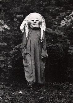 LBizarre Vintage Halloween Costume. What is it? I vote nightmare.