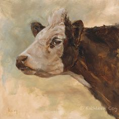 Sassy Cow Original Oil Painting. $250.00, via Etsy.