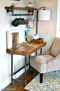 How To Build a Custom Industrial Wooden Desk Tutorial - DIY Desk Plans - Top 44 DIY Desk Ideas You can Make Easily - DIY & Crafts