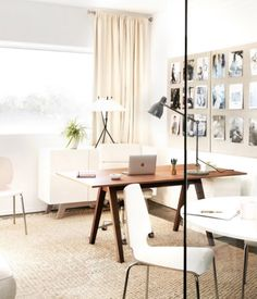 Home Office Decorating Ideas Beige White Wood Office Furniture Decor Office Furniture Design, Furniture Decor, Office Inspiration, Office Ideas, Modern Office Decor, Office Interiors, Interiores Design, Kyoto, Home Goods
