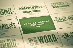 Successful design using green . . . Impressed. - Jessica Genest Identity by Nicolas Ménard, via Behance