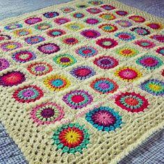 Starburst Flower Blanket made by The Patchwork Heart Pattern by Jane Brocket