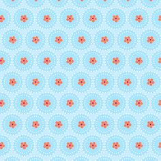 mo bedell : hothouse flowers : hothouse dots : blue