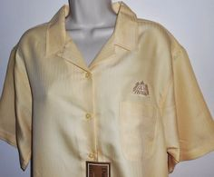 Red Hook Ale 2X Shirt 22 24 NEW Yellow Blouse NWT Brewery Beer Plus #Dunbrooke #ButtonDownShirt
