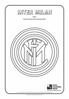 cool coloring pages soccer clubs logos inter milan logo coloring page with inter