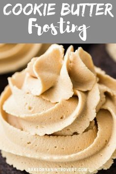 This cookie butter frosting is made with a buttercream base flavored with Biscoff cookie butter. You'll want to put this on EVERYTHING! #bakedbyanintrovertrecipes #cookiebutter #frosting #buttercream  via @introvertbaker Biscoff Cookie Butter, Biscoff Cookies, Butter Cookies Recipe, Icing Recipe, Frosting Recipes, Cake Recipes, Dessert Recipes, Biscoff Cake, Biscoff Cheesecake