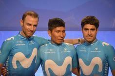 Alejandro Valverde, Nairo Quintana & Mikel Landa of Movistar
