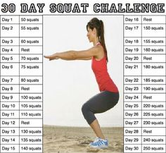 30 Day squat challenge fitness workout exercise diy workout workout motivation exercise motivation exercise tips workout tutorial exercise tutorial diy workouts diy exercise diy exercises Fitness Workouts, Fitness Herausforderungen, Fitness Motivation, Fitness Tracker, Health Fitness, Fitness Friday, Easy Fitness, Fitness Weightloss, Squats Fitness