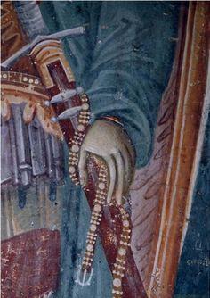 Sveti Dimitrije, detalj, crkva svetog Nikite, BJR Makedonija, XIV vek, zadužbina kralja Milutina Byzantine Art, Byzantine Icons, Medieval Clothing, Illuminated Manuscript, Fresco, Mosaic, Photo Wall, Painting, Hands