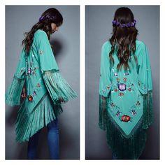 Kimono de varios colores