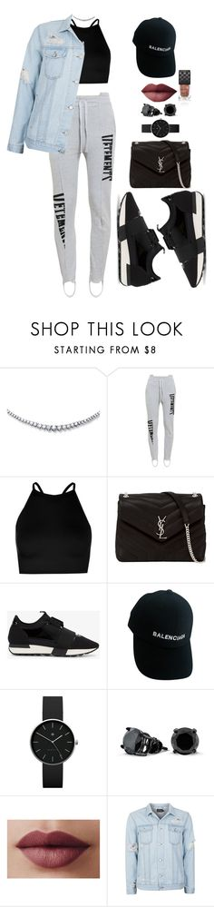 """""""Untitled #2761"""" by mrkr-lawson ❤ liked on Polyvore featuring Vetements, Boohoo, Yves Saint Laurent, Balenciaga, Newgate, Bling Jewelry, Topman and Gucci"""